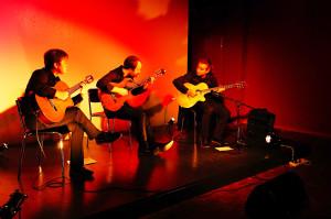 von links: Cristobal Gonzalez, Pablo Allende, Hernan Hock